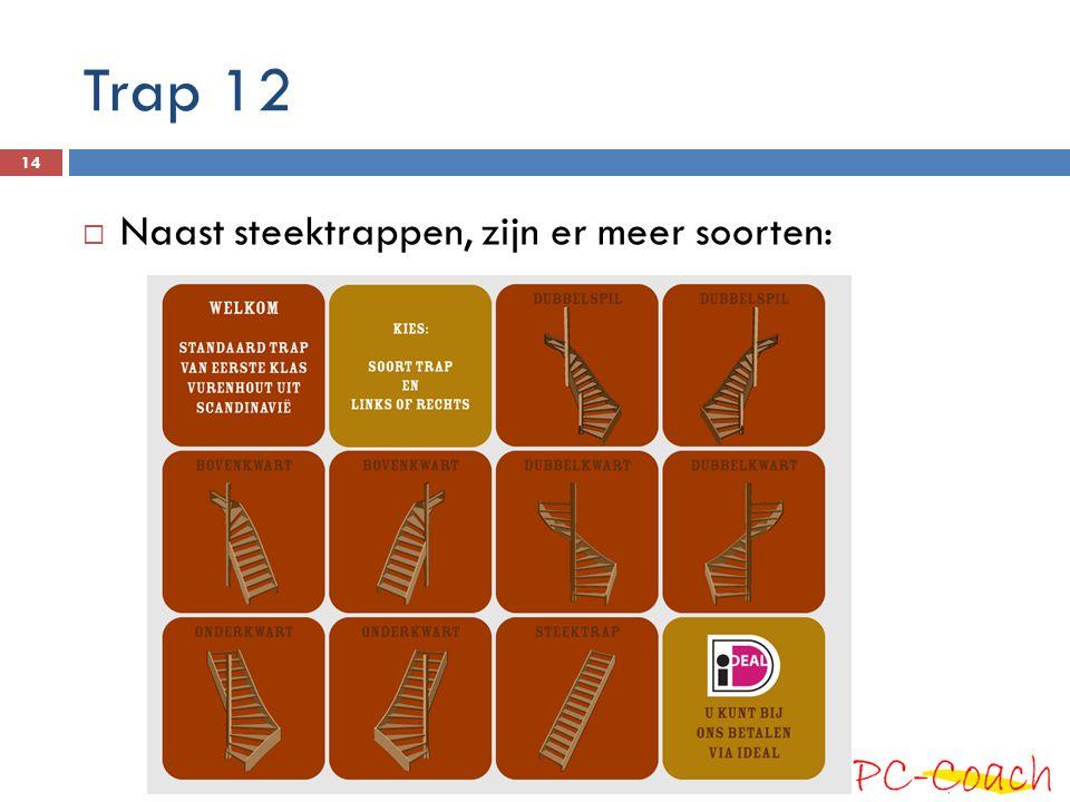 Trap 12 Naast steektrappen, zijn er meer soorten: