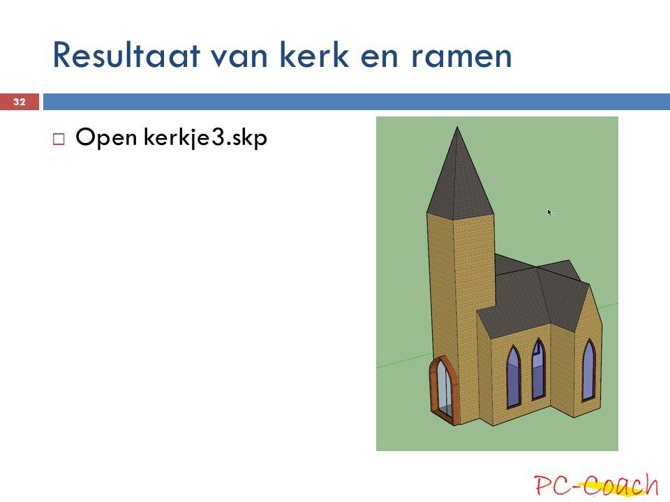 Resultaat van kerk en ramen