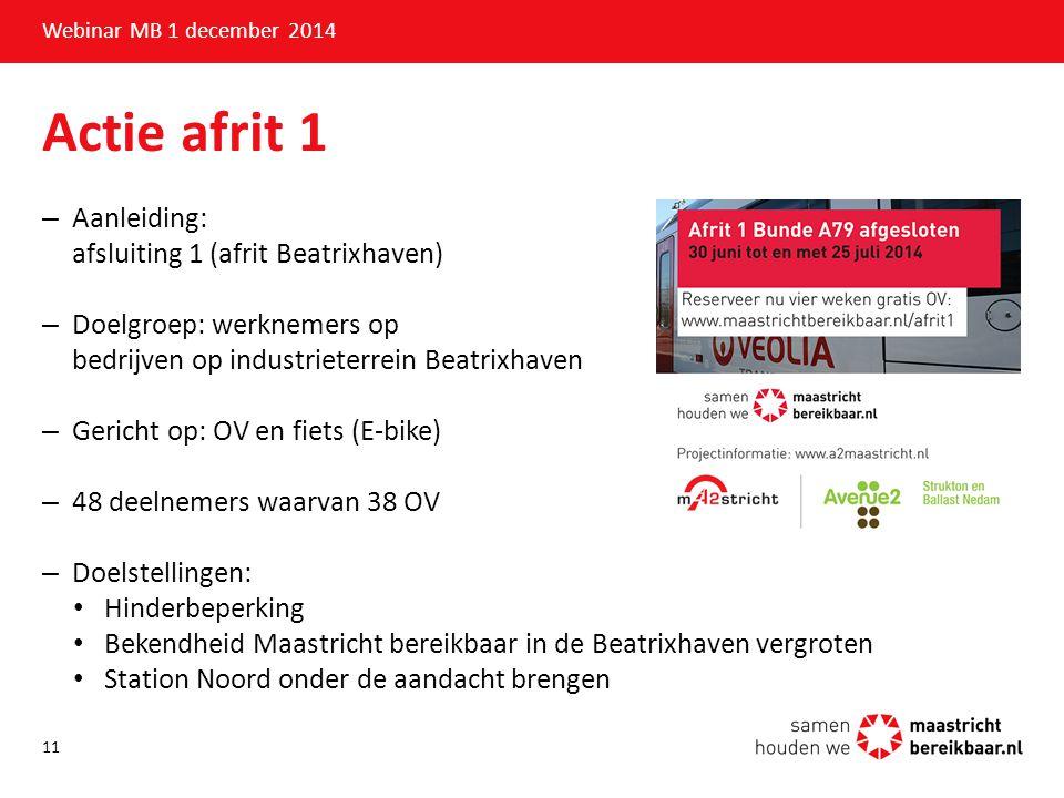 Actie afrit 1 Aanleiding: afsluiting 1 (afrit Beatrixhaven)