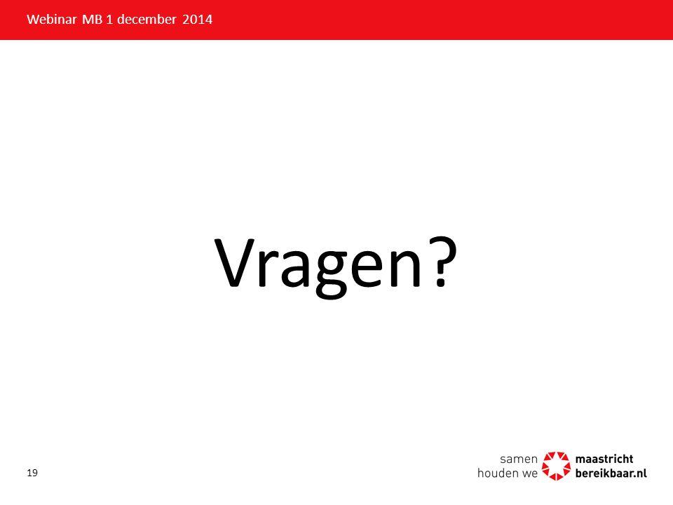 Webinar MB 1 december 2014 Vragen