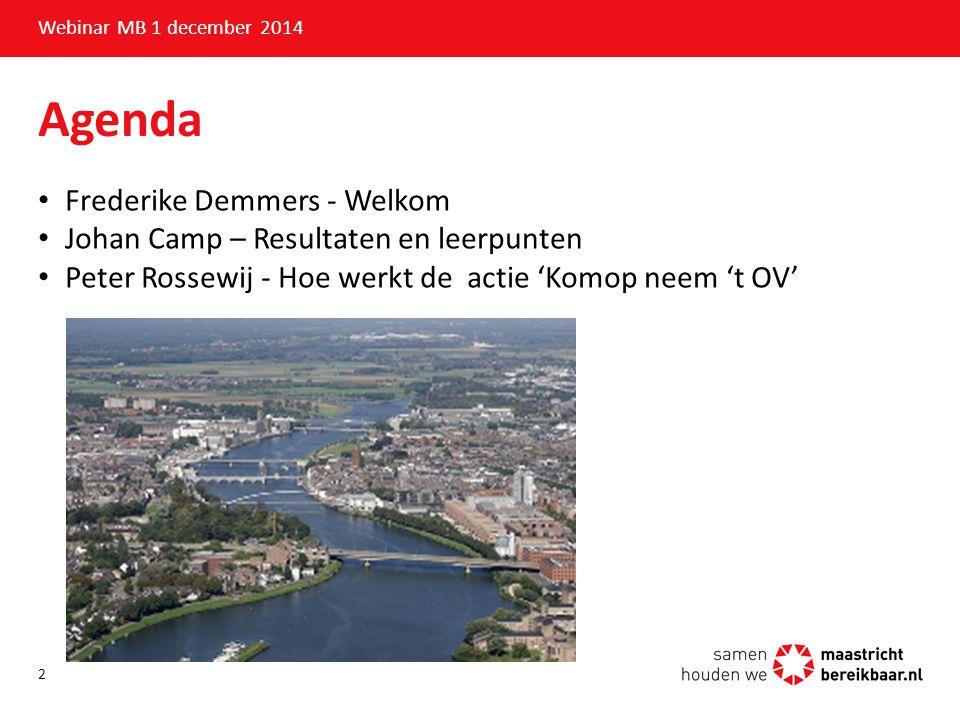 Agenda Frederike Demmers - Welkom