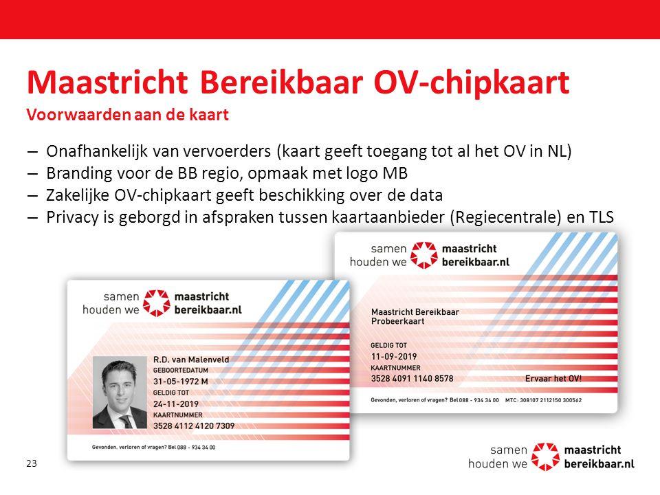 Maastricht Bereikbaar OV-chipkaart Voorwaarden aan de kaart