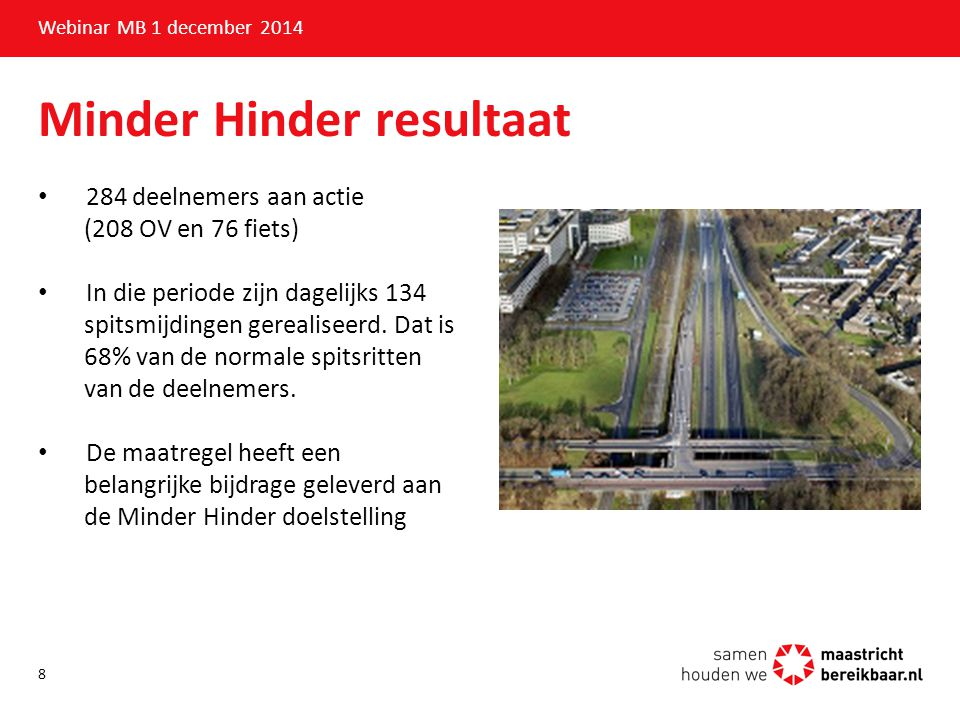 Minder Hinder resultaat