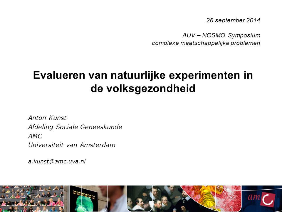 Evalueren van natuurlijke experimenten in de volksgezondheid