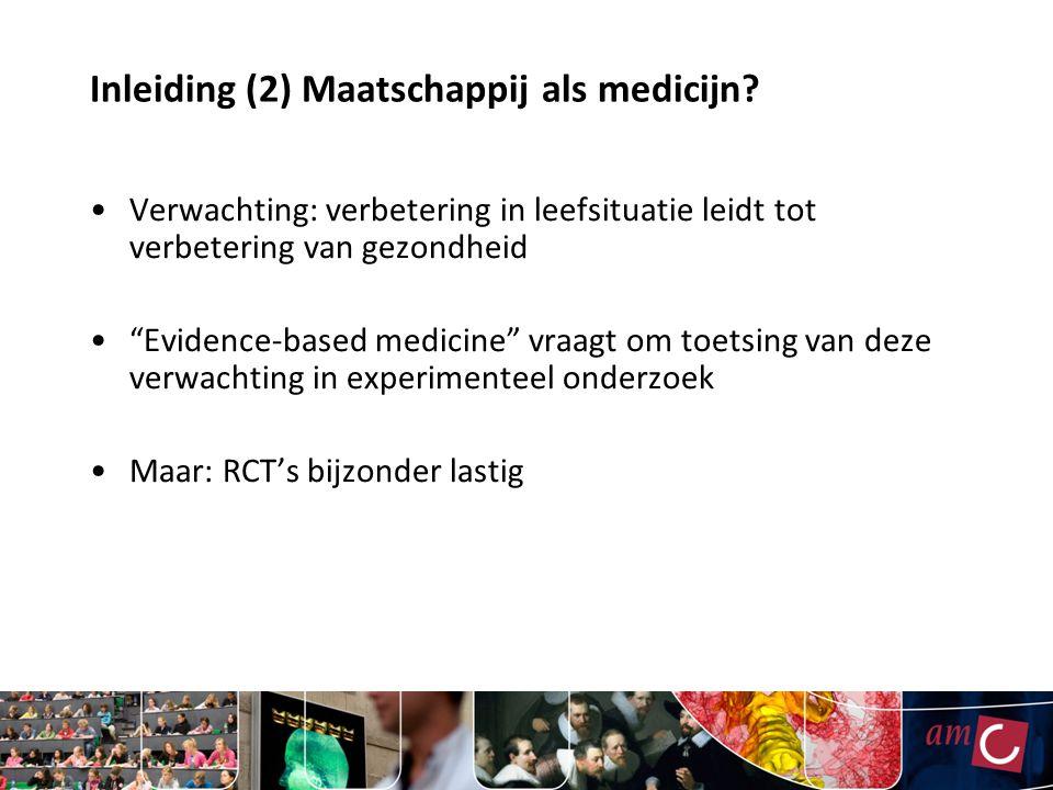 Inleiding (2) Maatschappij als medicijn