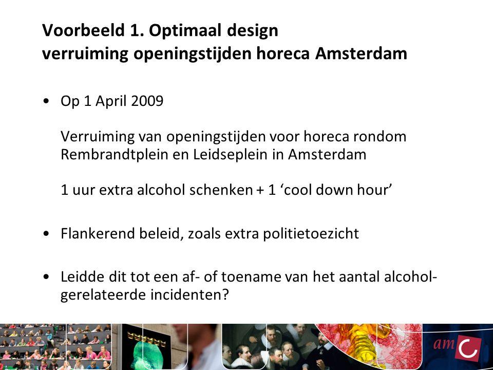 Voorbeeld 1. Optimaal design verruiming openingstijden horeca Amsterdam