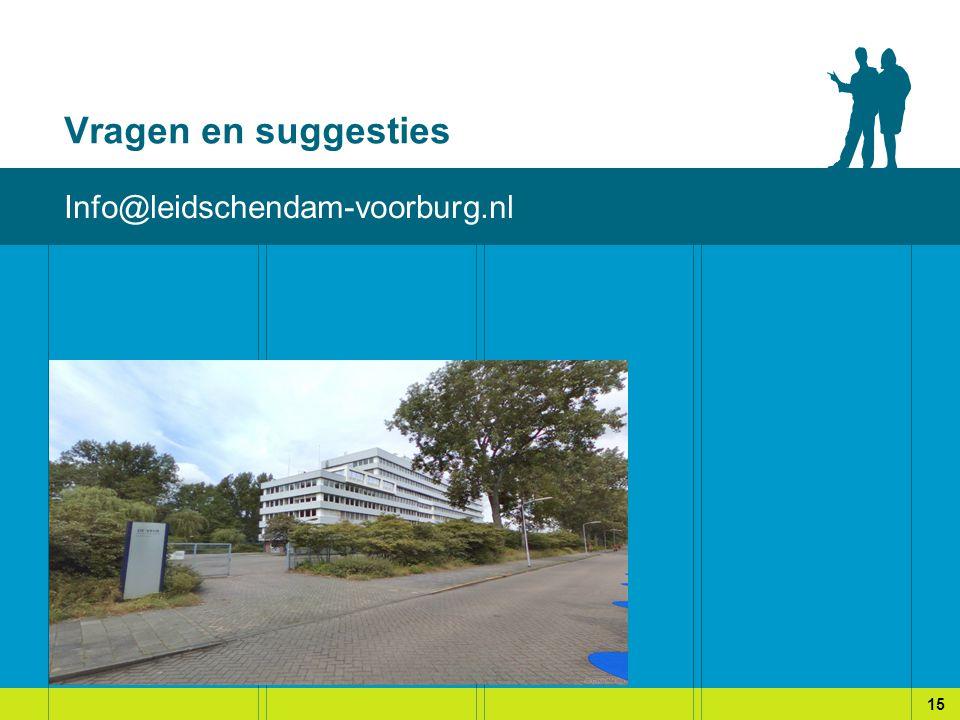 Vragen en suggesties Info@leidschendam-voorburg.nl