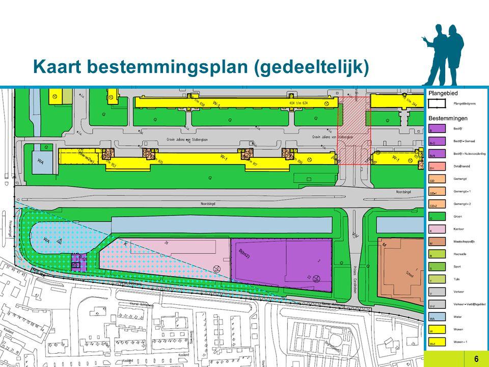 Kaart bestemmingsplan (gedeeltelijk)