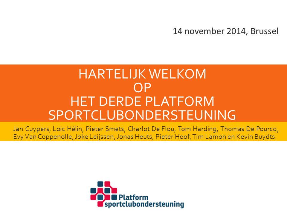 Hartelijk welkom op het derde Platform Sportclubondersteuning