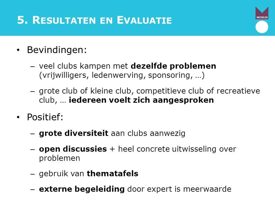 5. Resultaten en Evaluatie