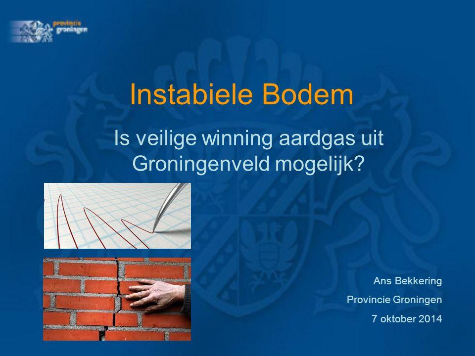 Is veilige winning aardgas uit Groningenveld mogelijk