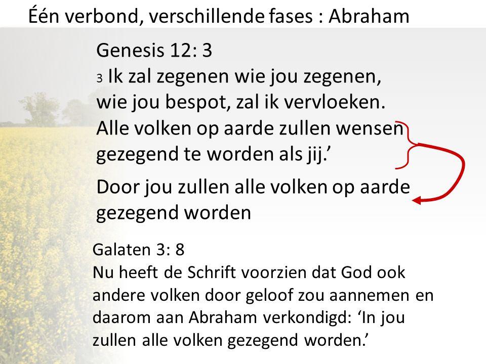 Één verbond, verschillende fases : Abraham