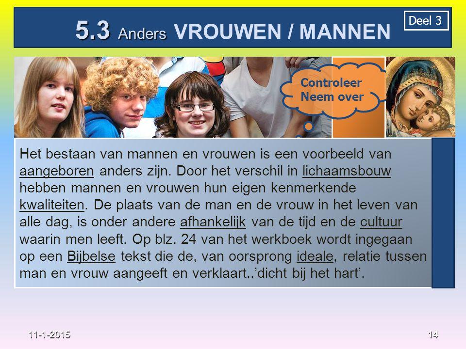 5.3 Anders VROUWEN / MANNEN