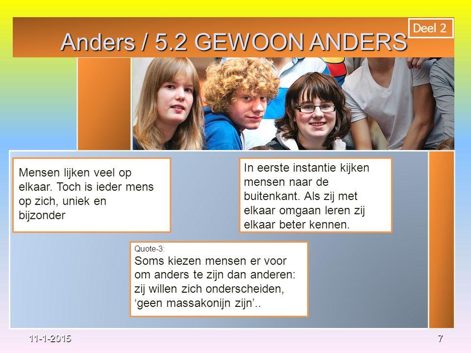 Anders / 5.2 GEWOON ANDERS Deel 2