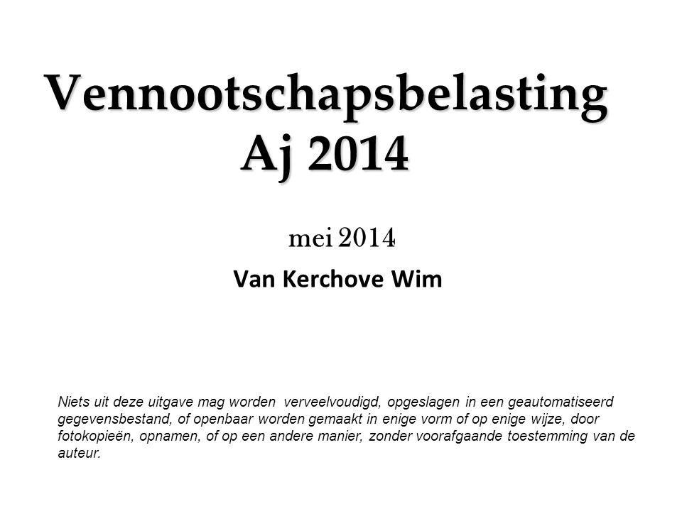 Vennootschapsbelasting Aj 2014