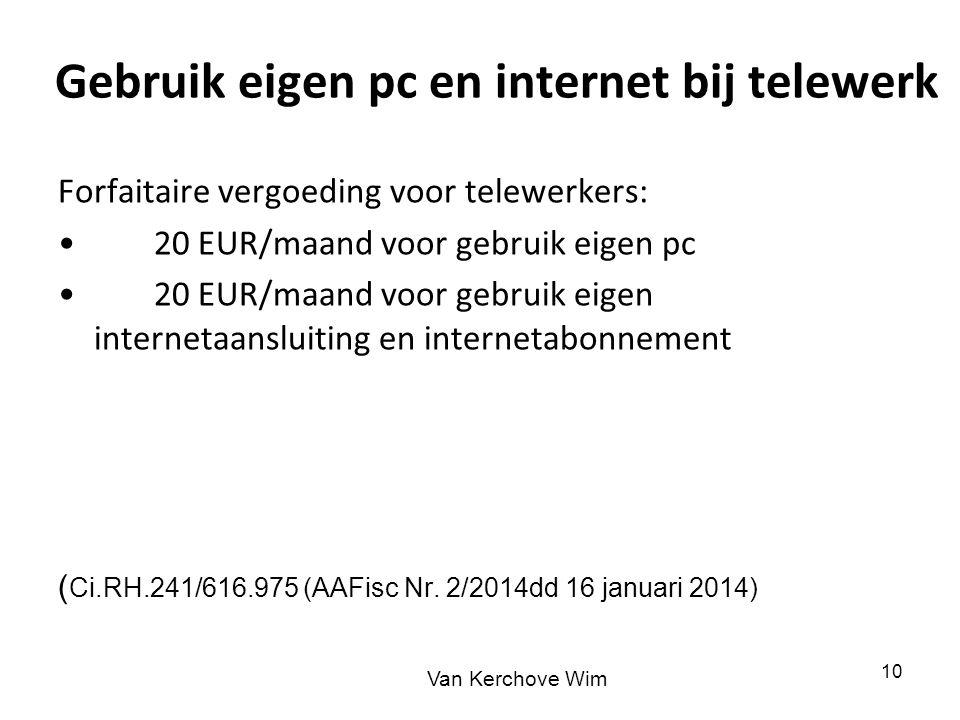 Gebruik eigen pc en internet bij telewerk