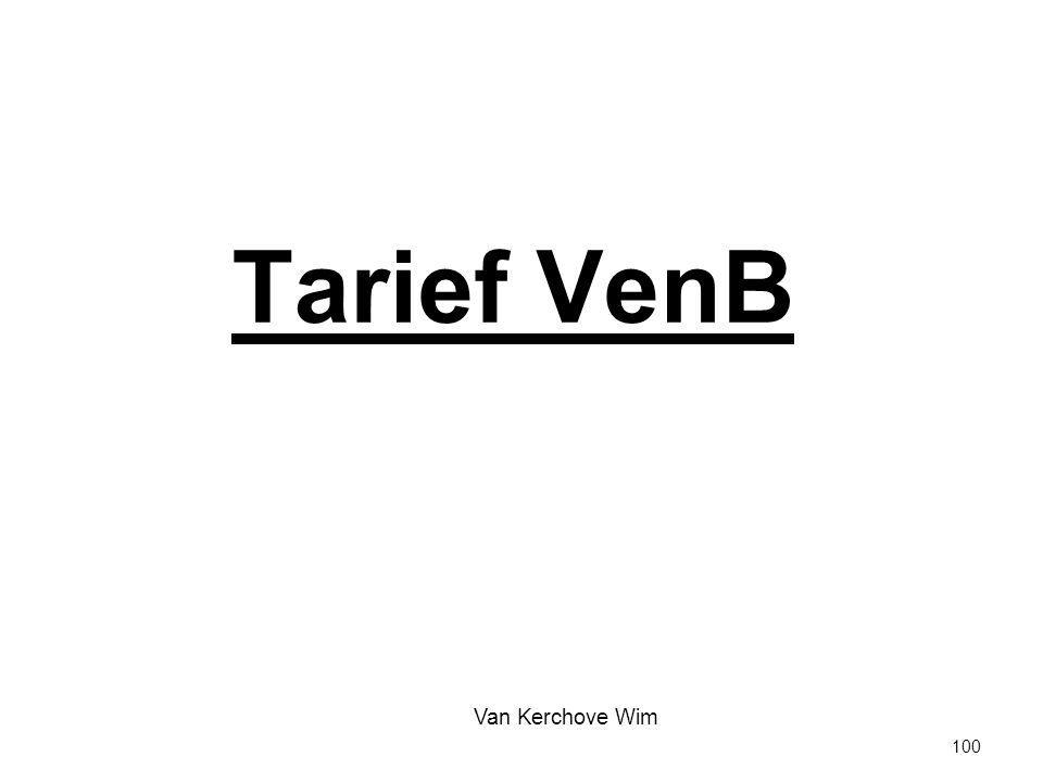 Tarief VenB Van Kerchove Wim 100 100