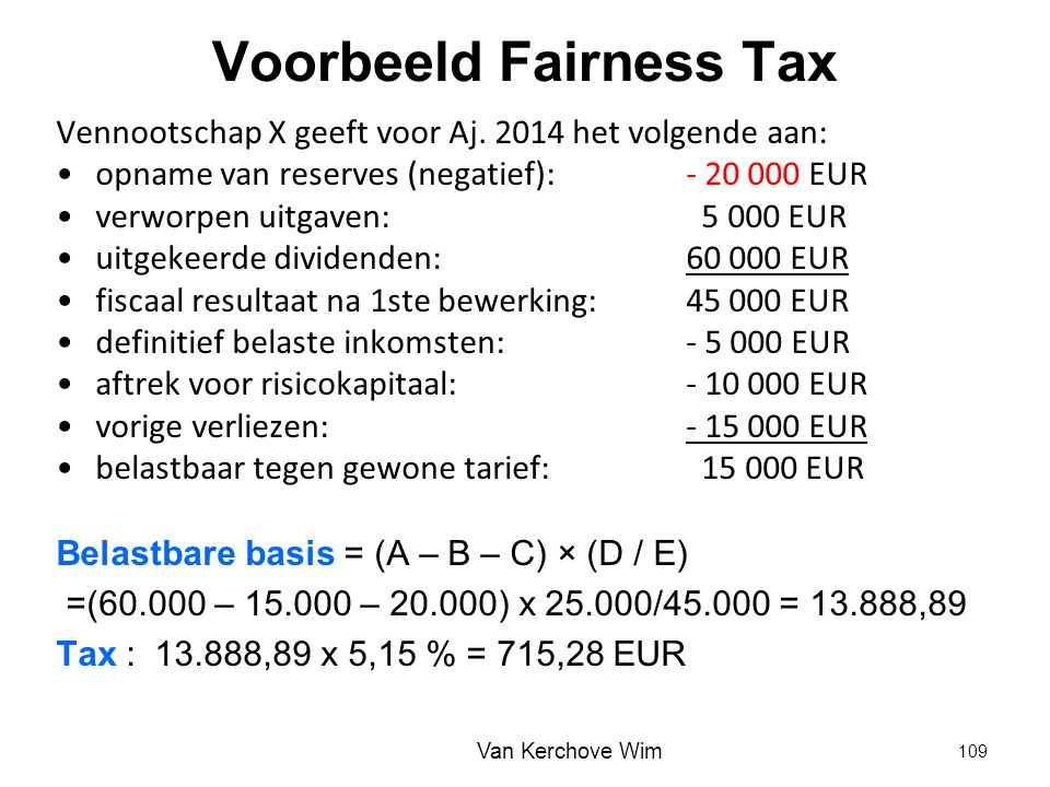 Voorbeeld Fairness Tax