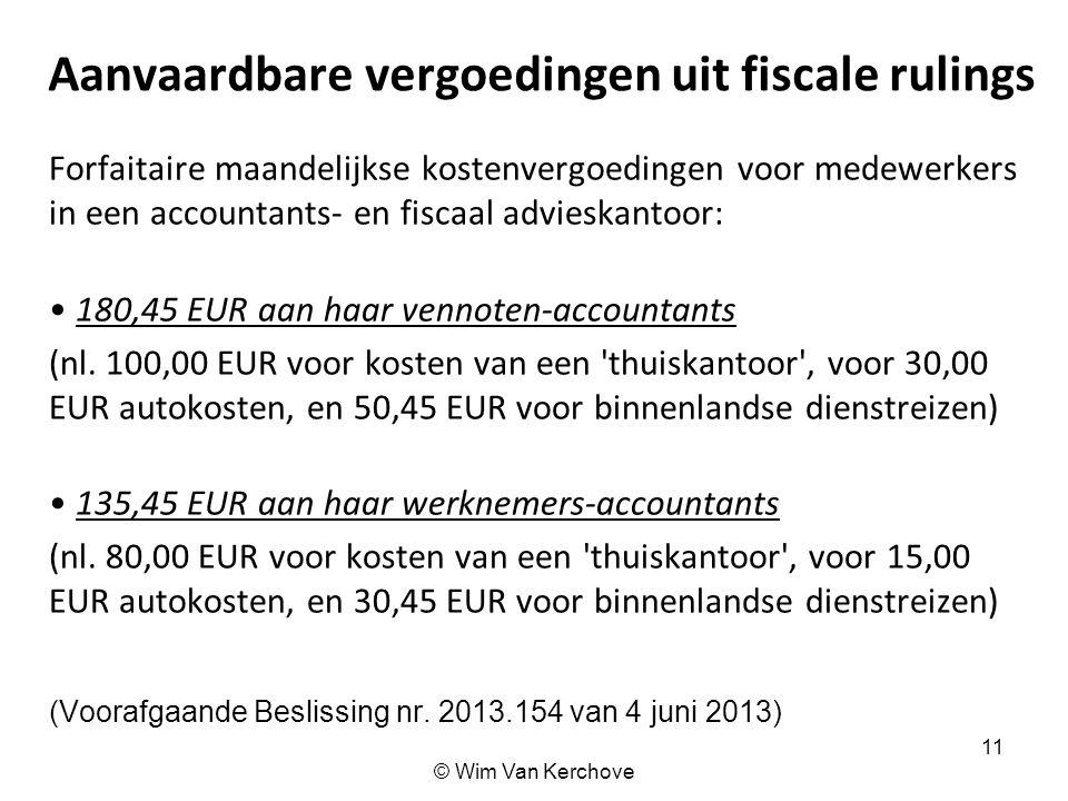 Aanvaardbare vergoedingen uit fiscale rulings
