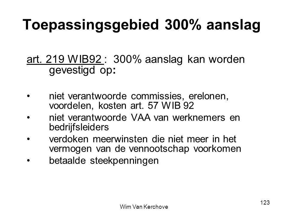 Toepassingsgebied 300% aanslag