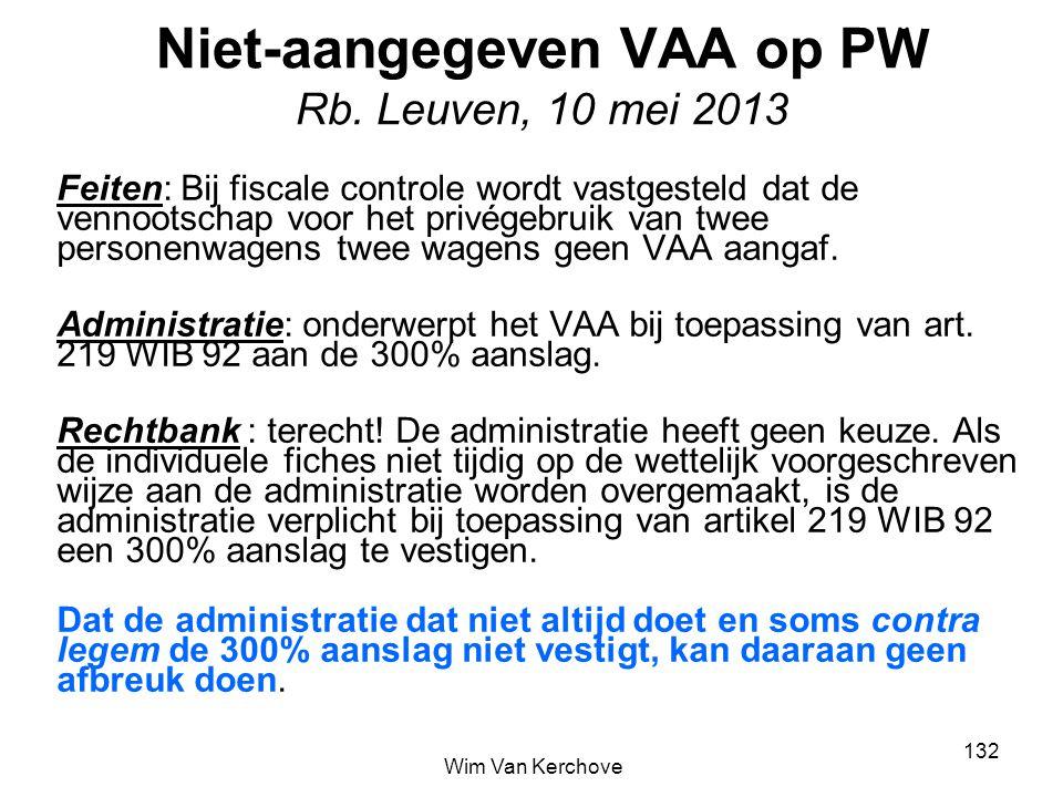 Niet-aangegeven VAA op PW Rb. Leuven, 10 mei 2013