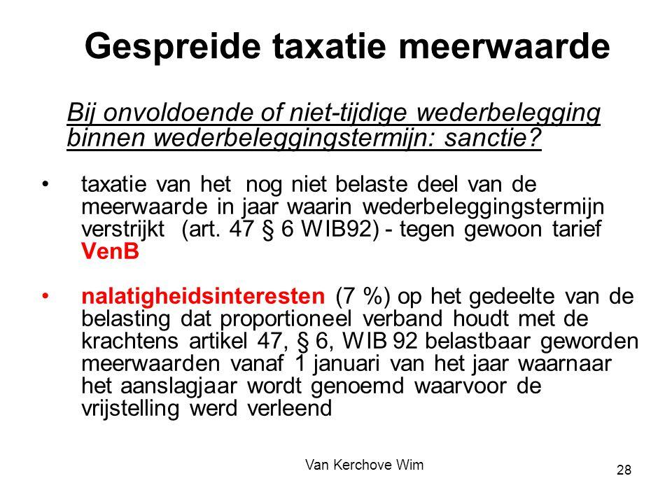 Gespreide taxatie meerwaarde