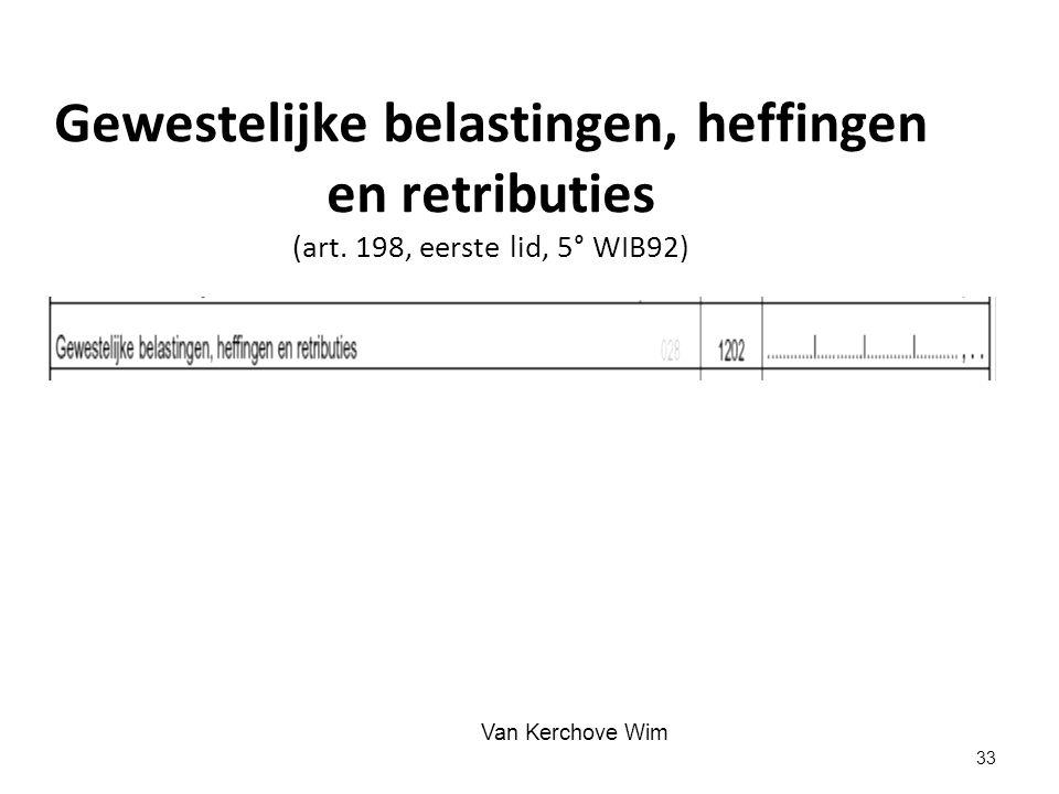 Gewestelijke belastingen, heffingen en retributies (art