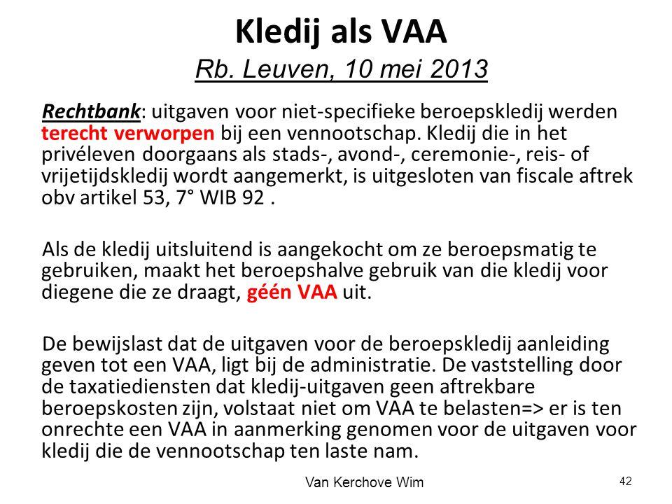 Kledij als VAA Rb. Leuven, 10 mei 2013