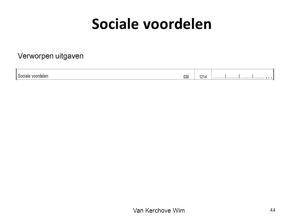 Sociale voordelen 44 Van Kerchove Wim