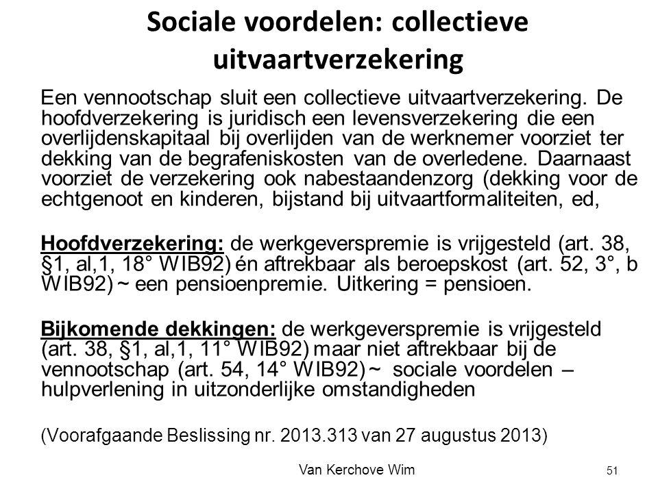 Sociale voordelen: collectieve uitvaartverzekering