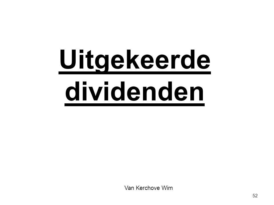 Uitgekeerde dividenden