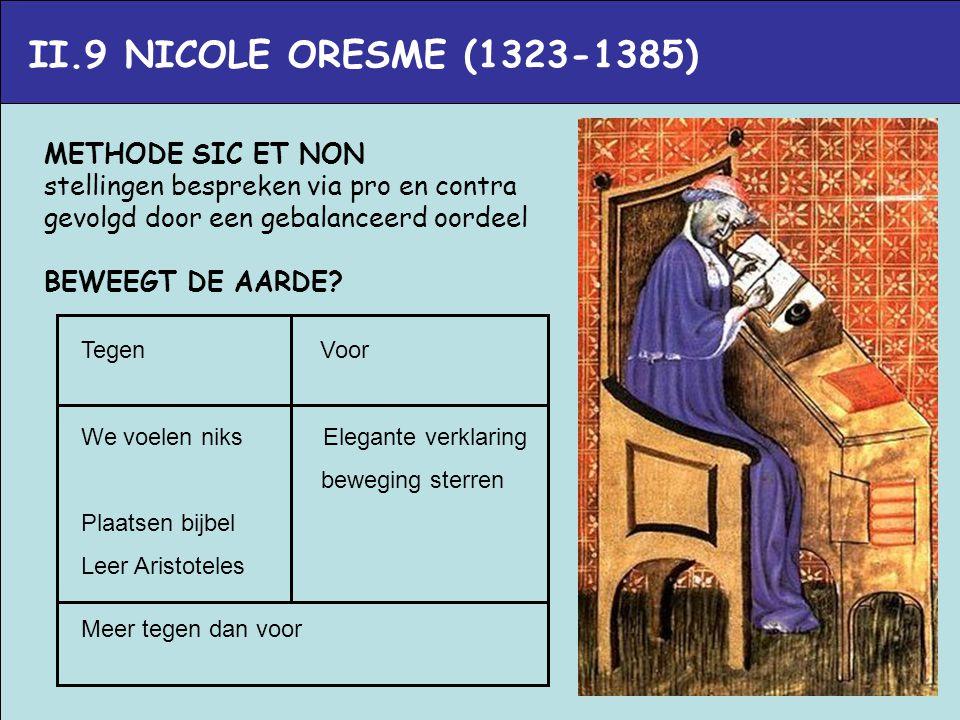 II.9 NICOLE ORESME (1323-1385) METHODE SIC ET NON