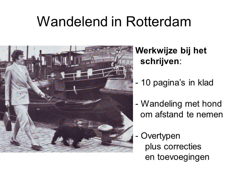Wandelend in Rotterdam