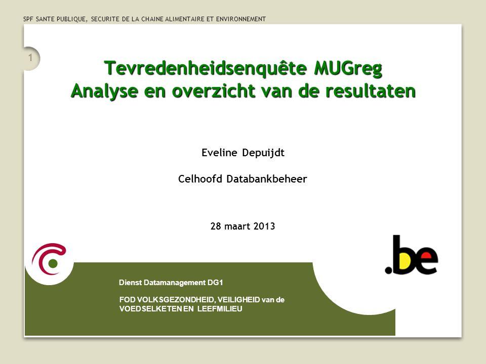 Tevredenheidsenquête MUGreg Analyse en overzicht van de resultaten