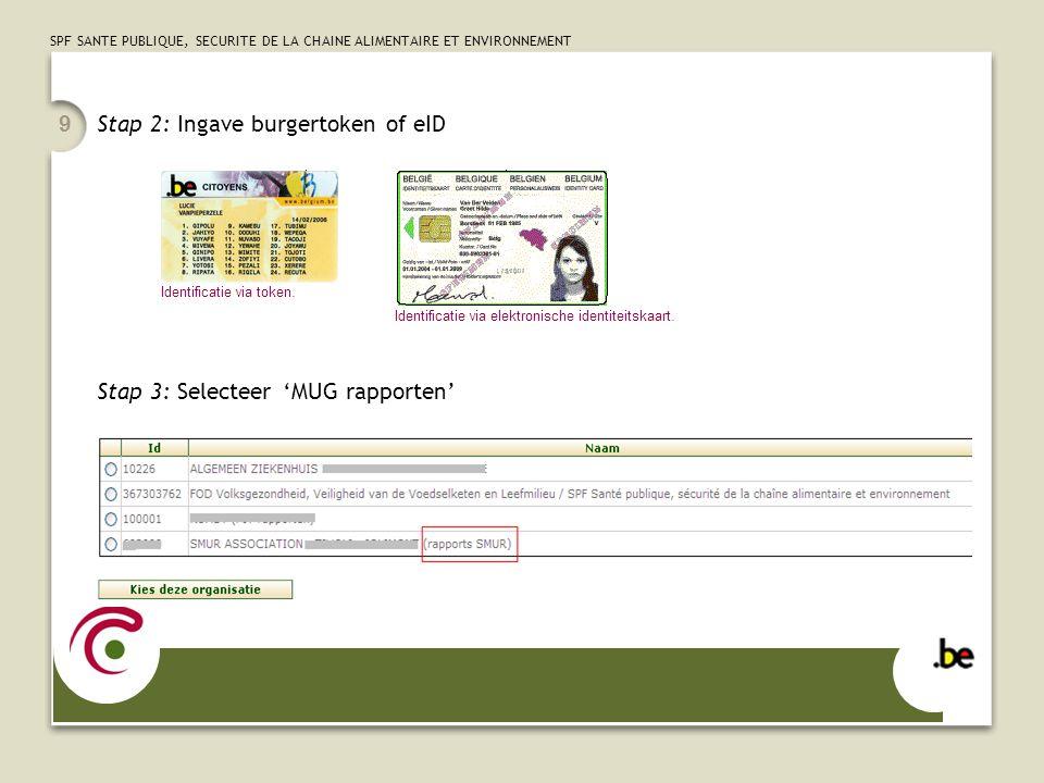 Stap 2: Ingave burgertoken of eID