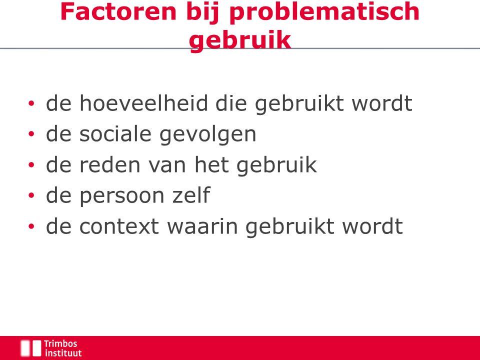 Factoren bij problematisch gebruik
