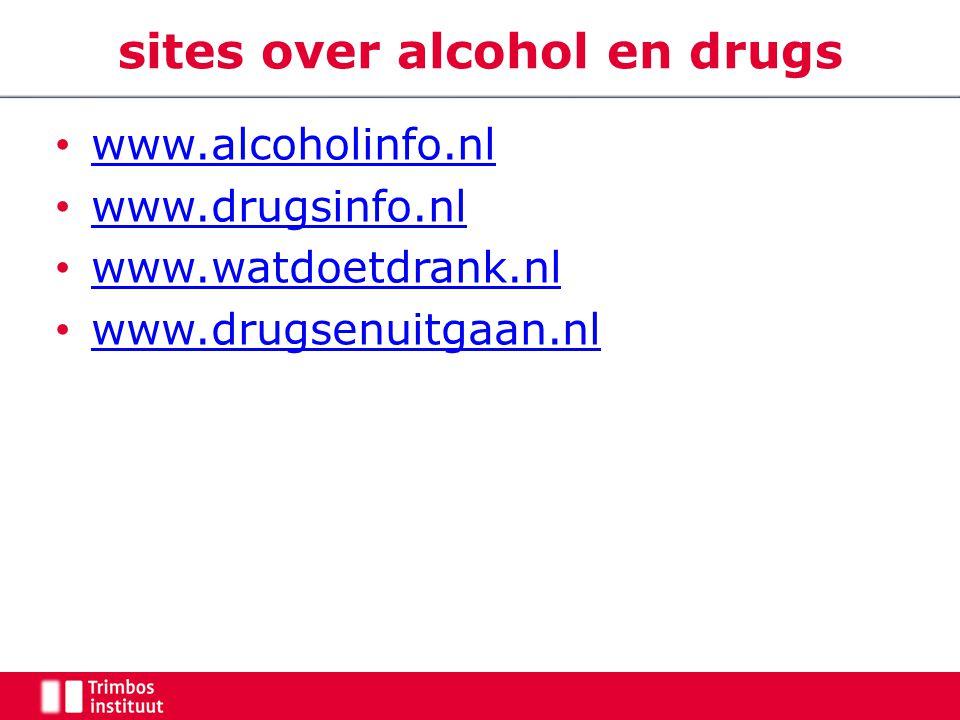 sites over alcohol en drugs