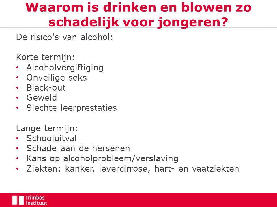 Waarom is drinken en blowen zo schadelijk voor jongeren