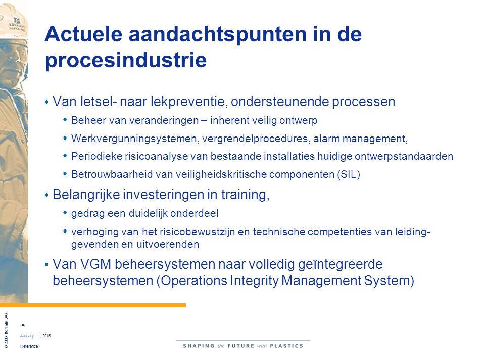 Actuele aandachtspunten in de procesindustrie