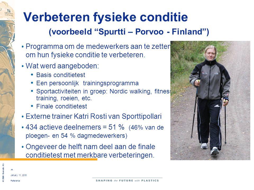 Verbeteren fysieke conditie (voorbeeld Spurtti – Porvoo - Finland )