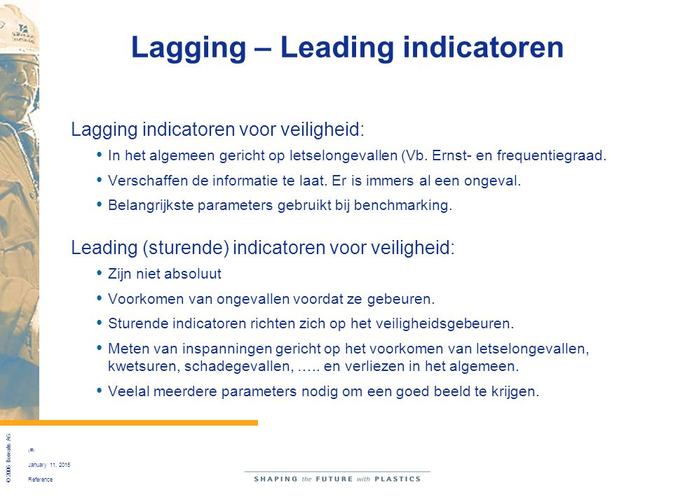 Lagging – Leading indicatoren