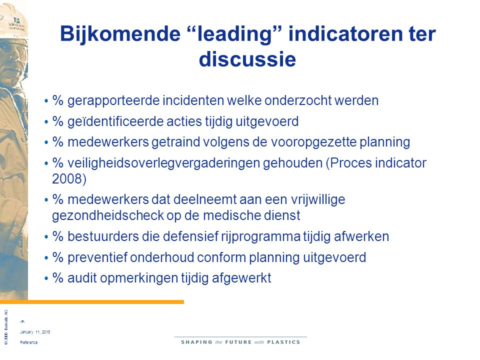 Bijkomende leading indicatoren ter discussie