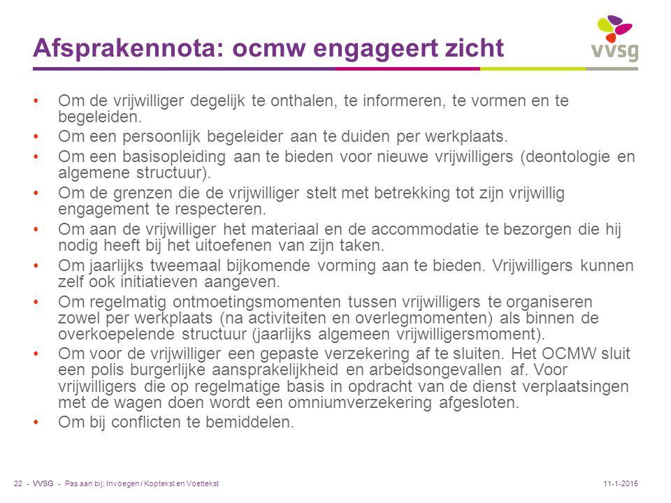 Afsprakennota: ocmw engageert zicht