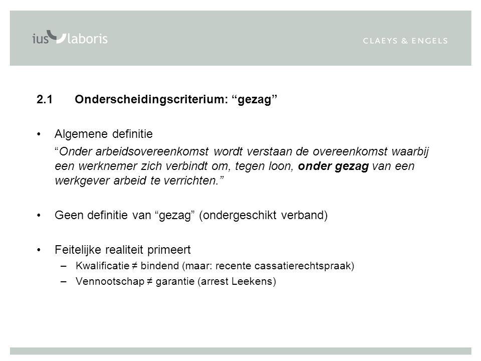 2.1 Onderscheidingscriterium: gezag Algemene definitie