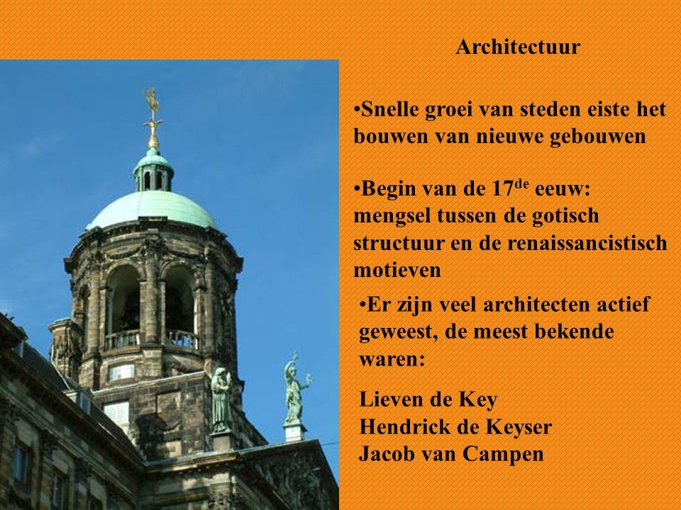 Architectuur Snelle groei van steden eiste het bouwen van nieuwe gebouwen.