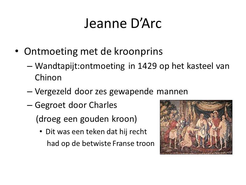 Jeanne D'Arc Ontmoeting met de kroonprins