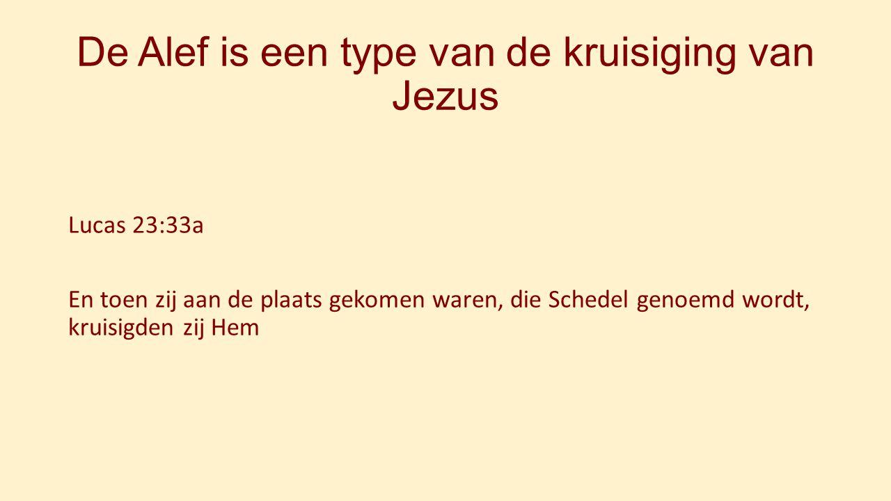 De Alef is een type van de kruisiging van Jezus