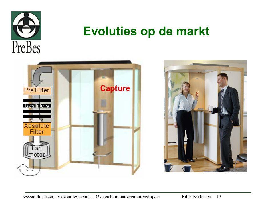 Evoluties op de markt Gezondheidszorg in de onderneming - Overzicht initiatieven uit bedrijven Eddy Eyckmans 10.