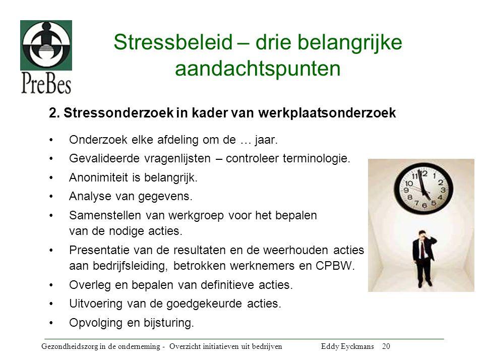 Stressbeleid – drie belangrijke aandachtspunten