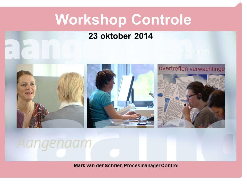 Workshop Controle 23 oktober 2014